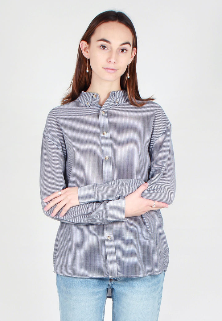 Slouch Stripe Shirt - black/white