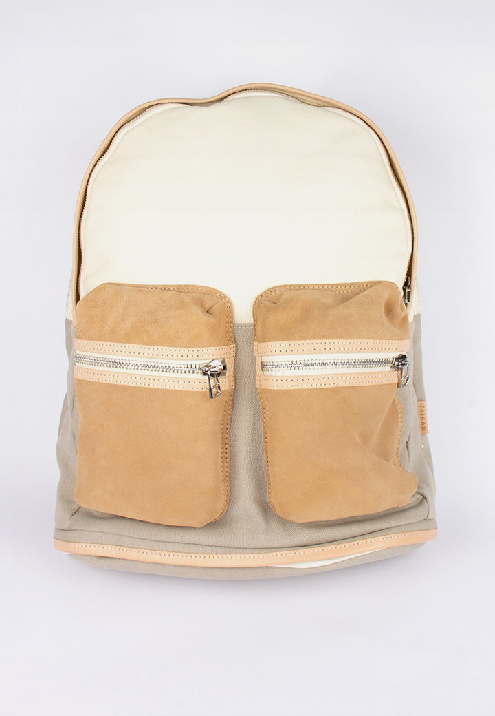 Taikan | Spartan Backpack - cotton/suede/veg tan leather | Good As Gold, NZ