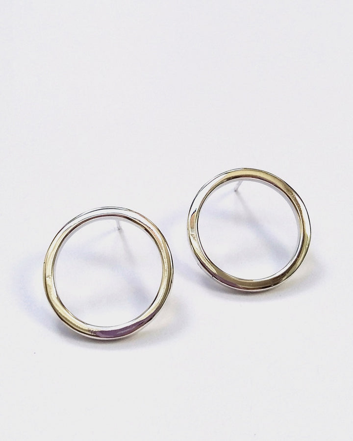 Jane Eppstein | Medium Loop Earrings - silver | Good As Gold, NZ
