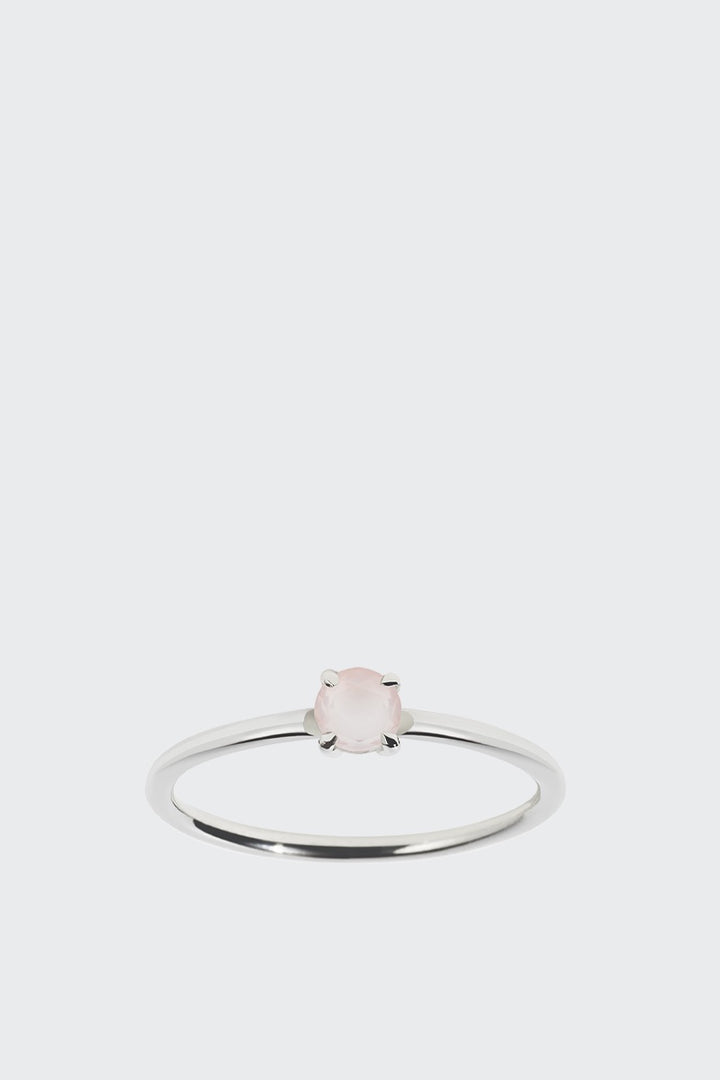 Meadowlark Micro Round Ring - silver/rose quartz | GOOD AS GOLD | NZ