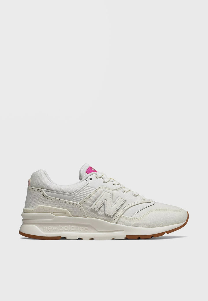 New Balance Womens 997 H Canvas - white/pink - Good As Gold