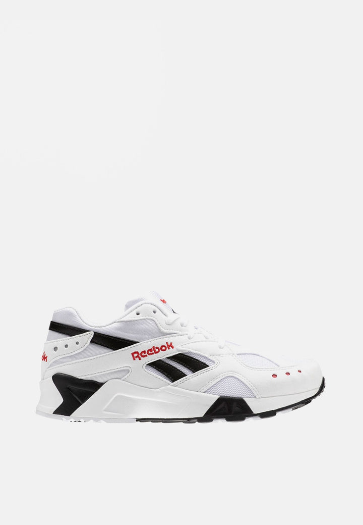 Reebok Aztrek - white/black/excellent red – Good as Gold