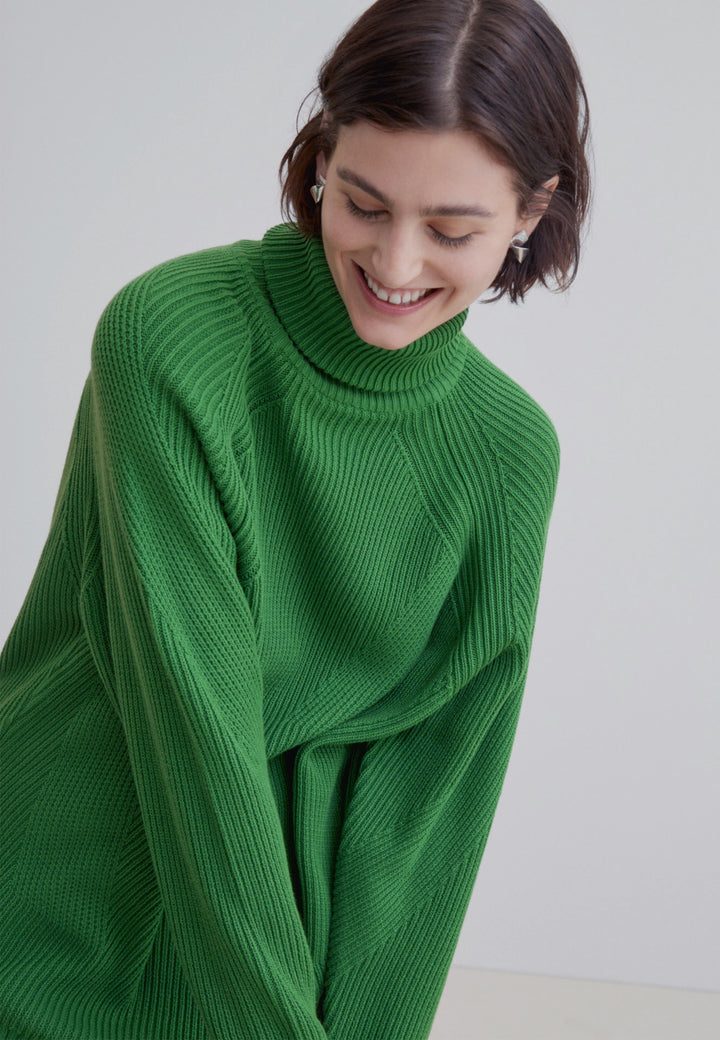 Henri Roll Neck Jumper - bright green