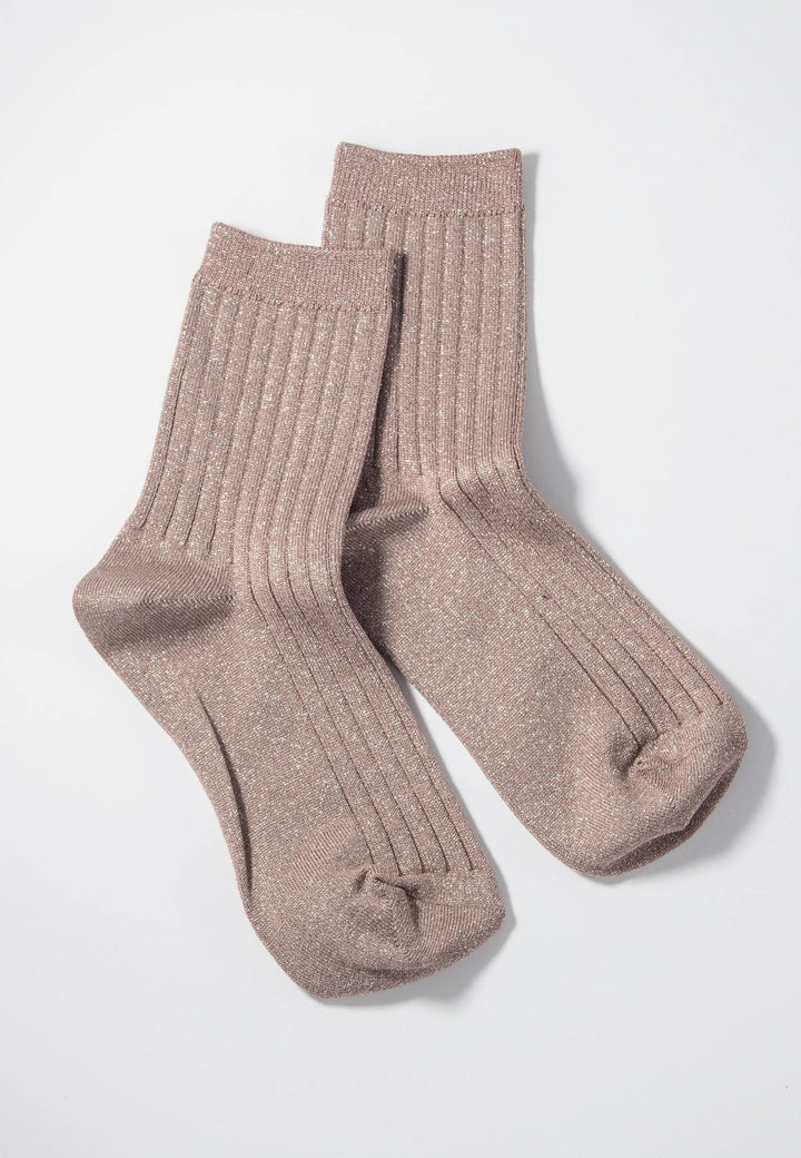 Her Socks Lurex - jute