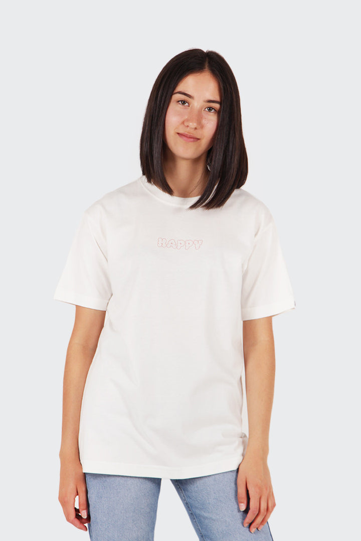 Good As Gold Happy T-Shirt - white/red | GOOD AS GOLD | NZ