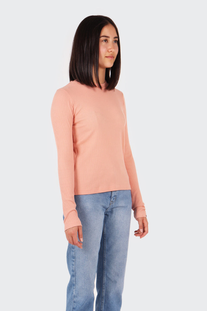 Good As Gold Classic Ribbed Long Sleeve T-Shirt - blush | GOOD AS GOLD | NZ