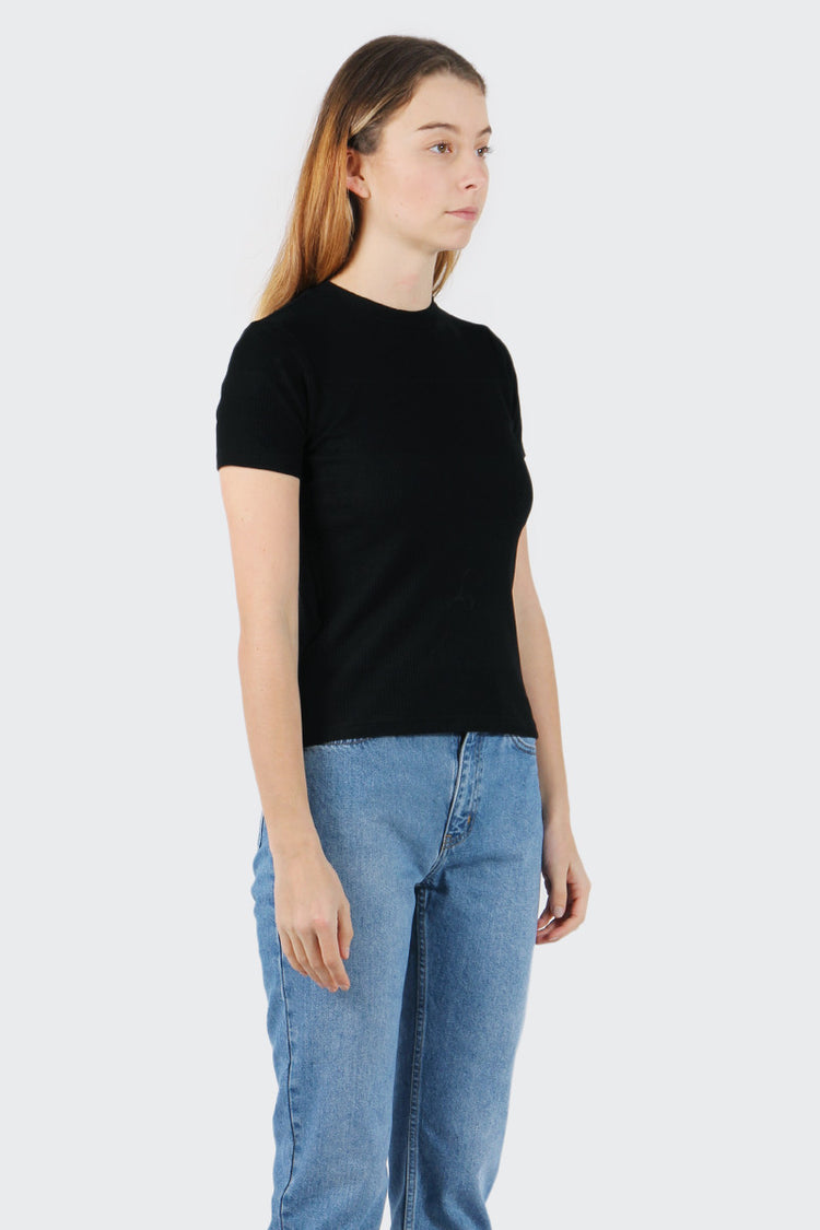 Good As Gold Classic Ribbed T-Shirt - black | GOOD AS GOLD | NZ