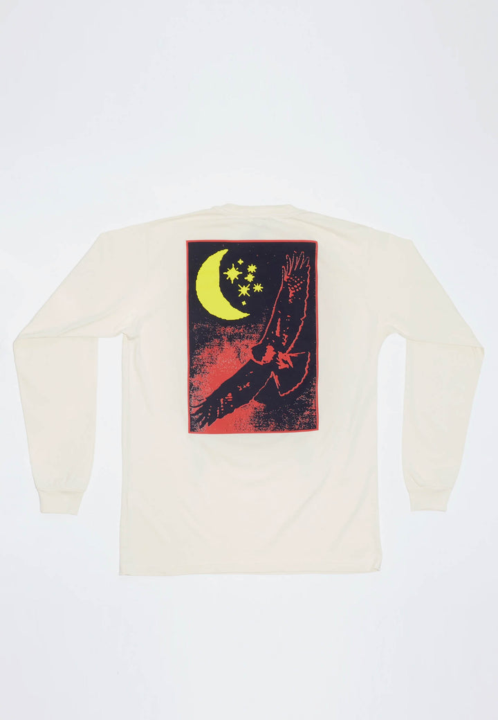 Rhythm Of Earth Long Sleeve T-Shirt - natural