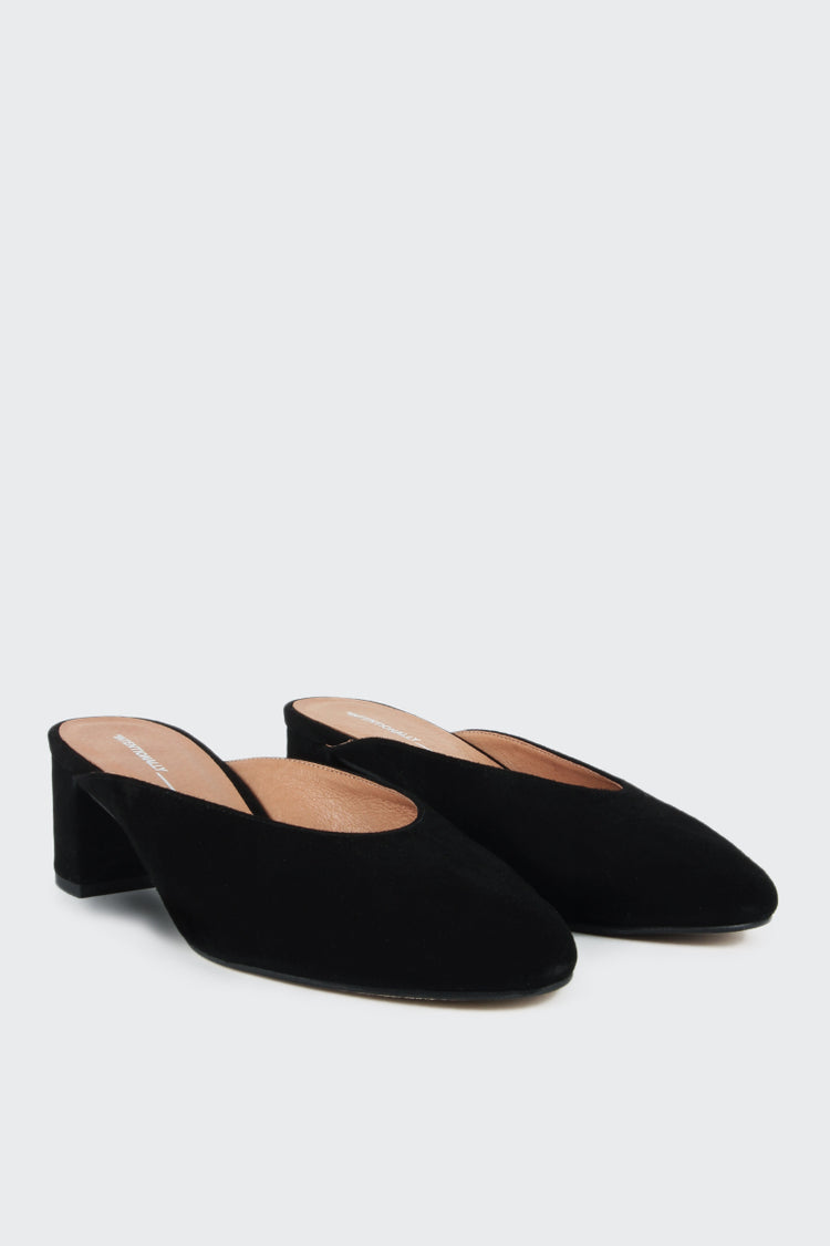 Intentionally Blank Daisy Mule - black suede | GOOD AS GOLD | NZ