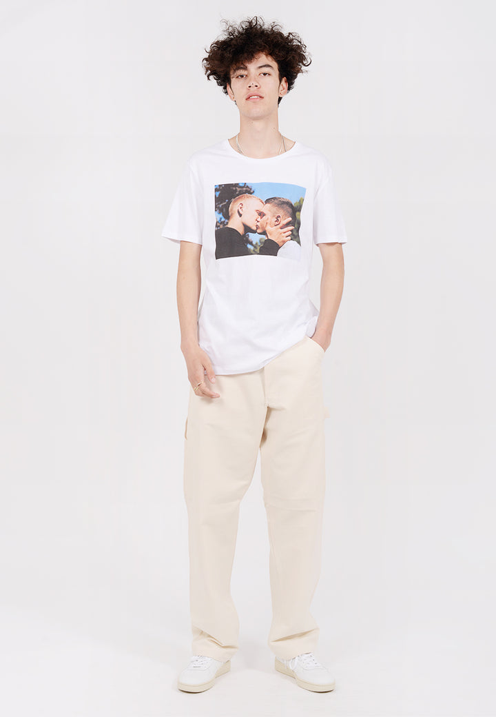 IDEA Alasdair McLellan British Summer The Kiss T-Shirt - white — Good as Gold