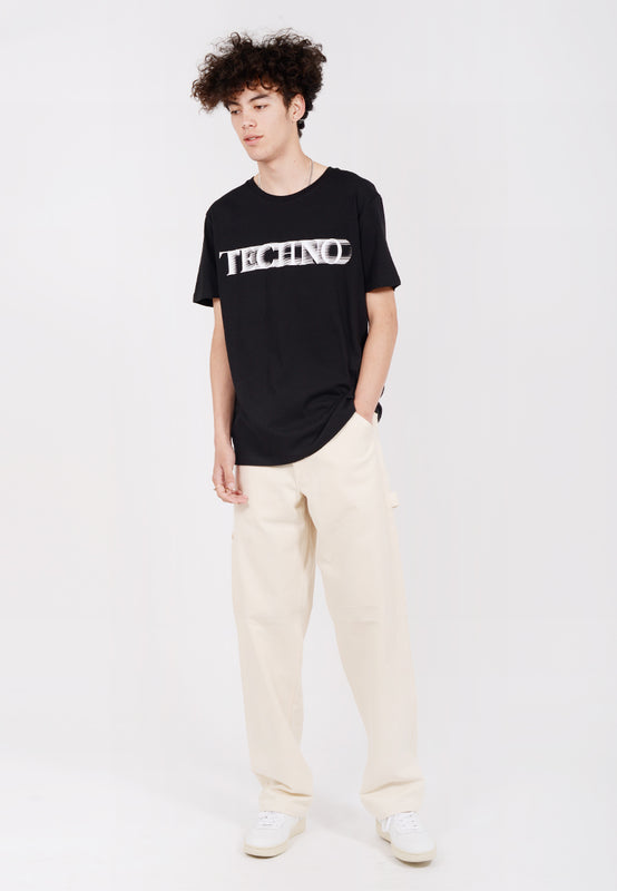 IDEA Techno Motion Blur T-Shirt - black — Good as Gold