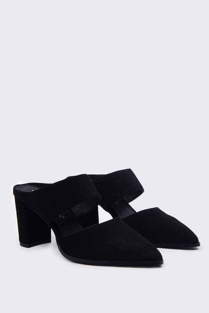 Intentionally Blank Missy Heel - black suede | GOOD AS GOLD | NZ