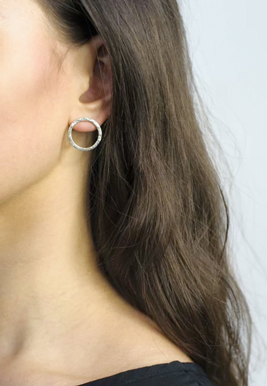 Medium Loop Earrings - silver