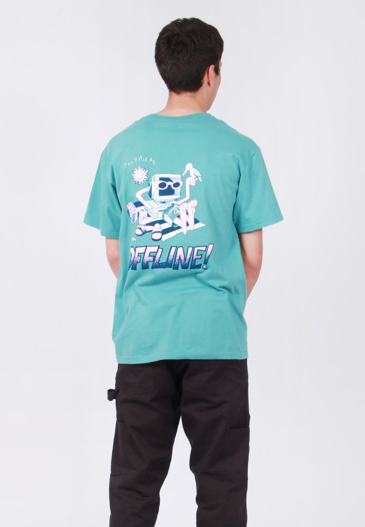 Jungles Offline T-Shirt - seafoam – Good as Gold