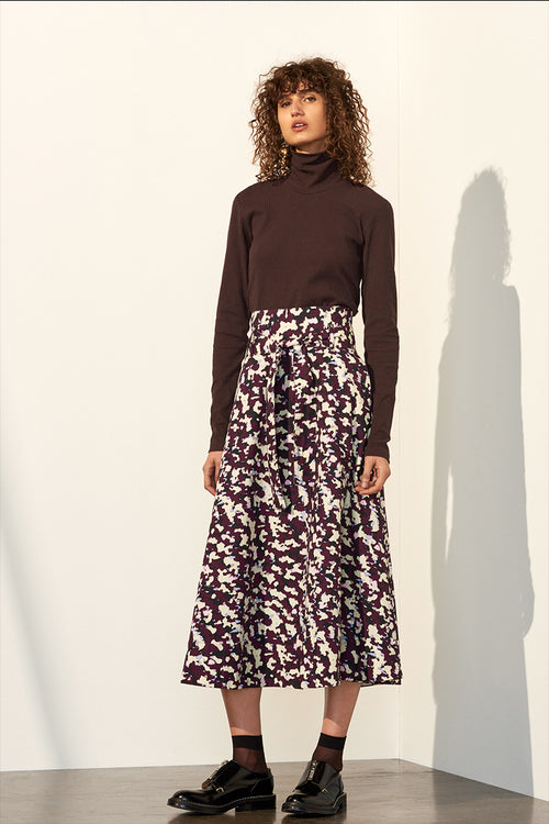 Kowtow Audition Skirt - masque print | GOOD AS GOLD | NZ