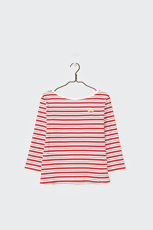 Kowtow Building Block Boat Neck Top - red stripe | GOOD AS GOLD | NZ