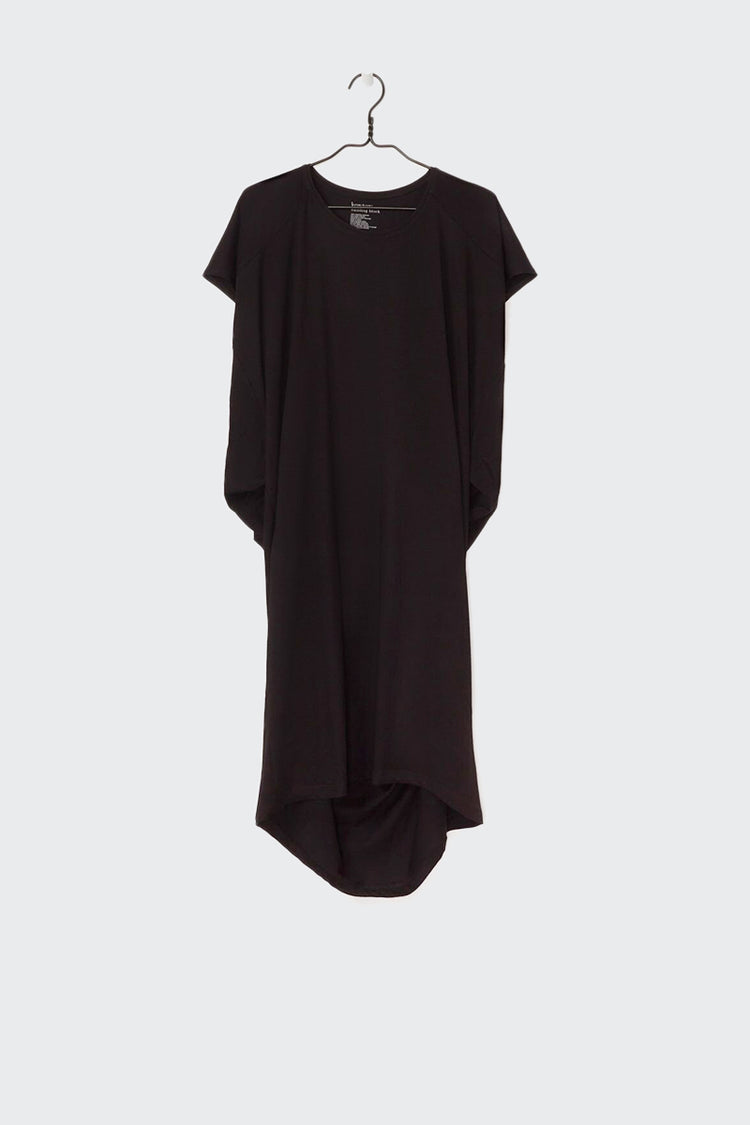 Kowtow Building Block Drape Dress - black | GOOD AS GOLD | NZ