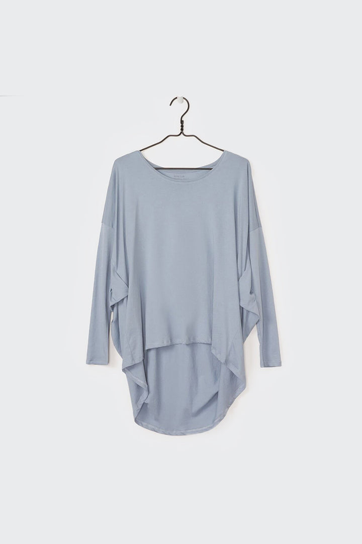 Kowtow Building Block Drape Top - dusty blue | GOOD AS GOLD | NZ