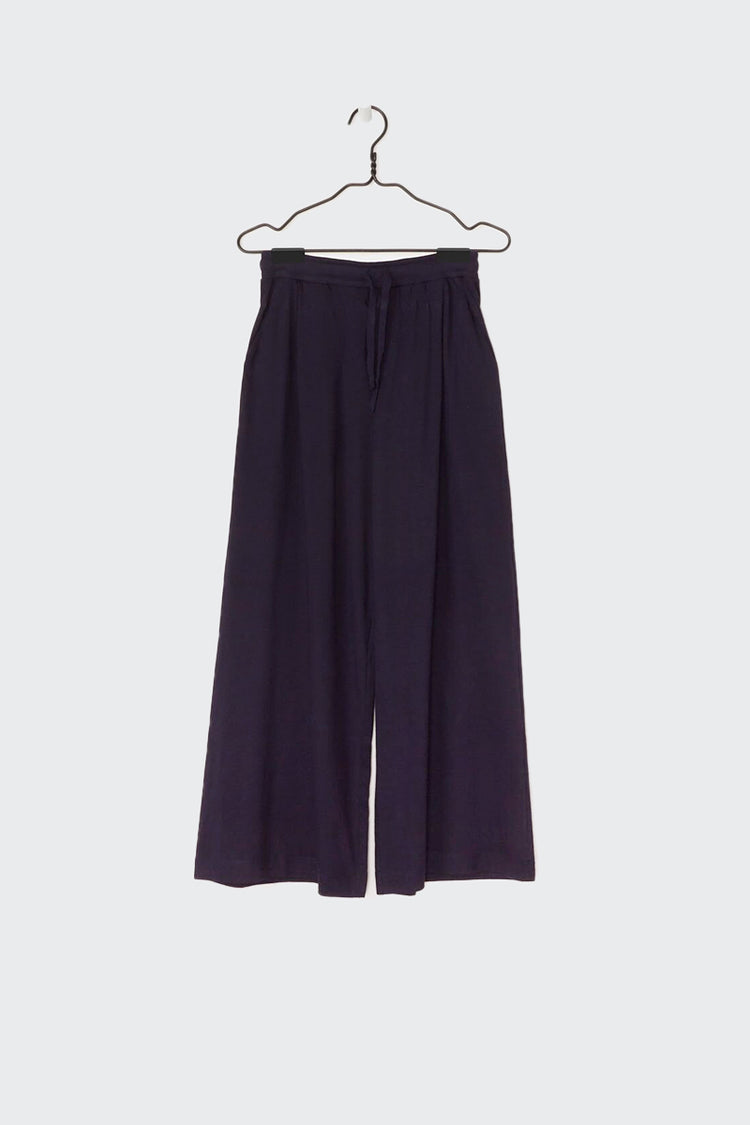 Kowtow Building Block Wide Leg Pant - navy | GOOD AS GOLD | NZ