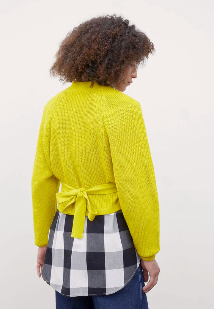 Composure Cardigan - acid yellow