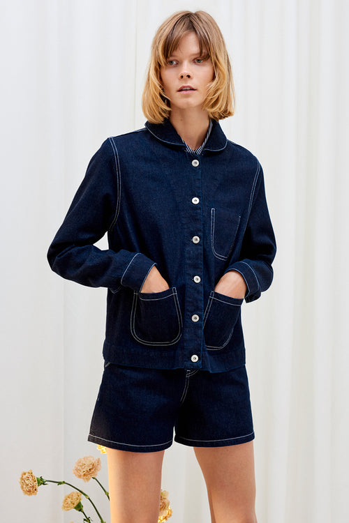 Kowtow Elda Jacket - dark denim - Good as Gold