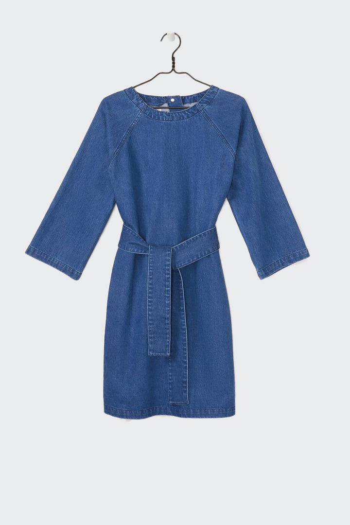 Kowtow Technique Dress - denim | GOOD AS GOLD | NZ
