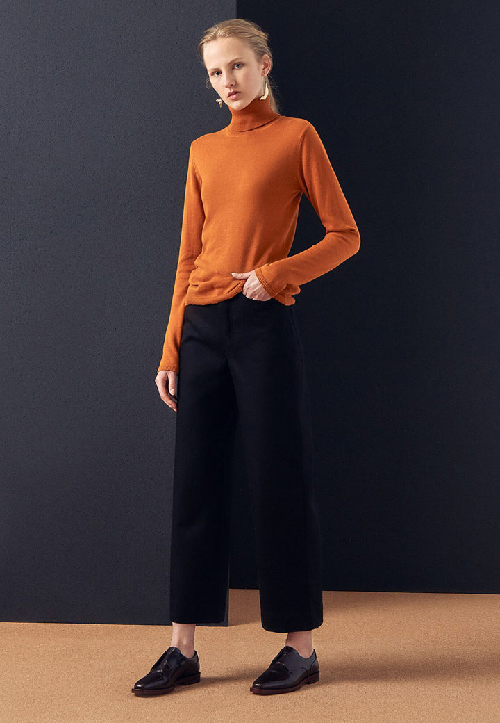 Kowtow Knit Roll Neck Sweater - rust — Good as Gold