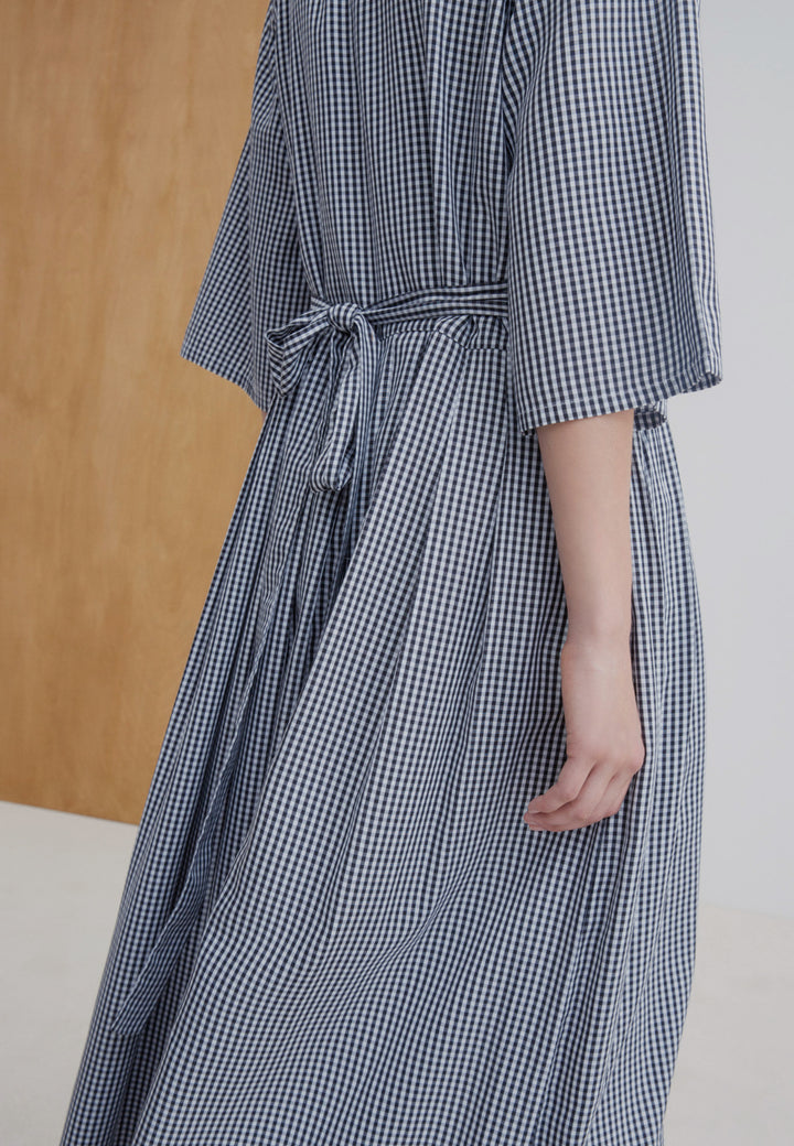 Nico Wrap Dress - gingham