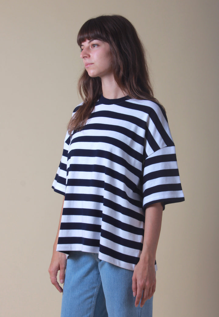 Building Block Oversized Boxy T-Shirt - stripe