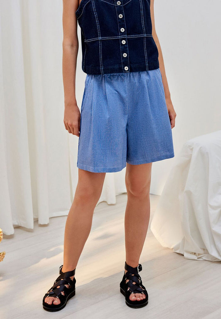 Kowtow Primary Shorts - chambray – Good as Gold