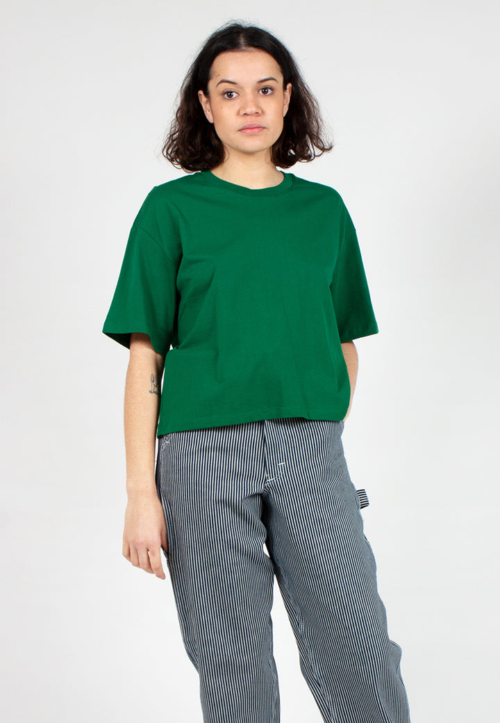 Building Block Boxy Tee - evergreen