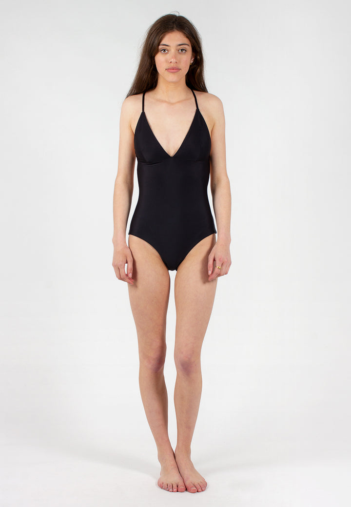Swim Triangle One Piece - black