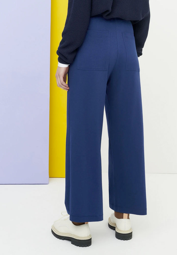 Building Block Wide Leg Pant - dark blue