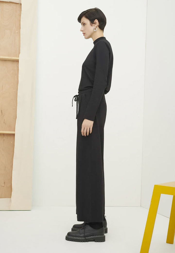 Building Block Wide Leg Pant - black