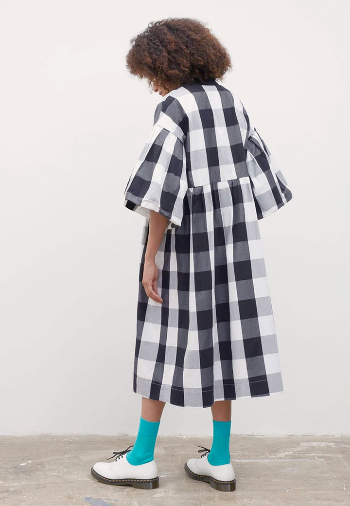 Yoshi Dress - black/white check