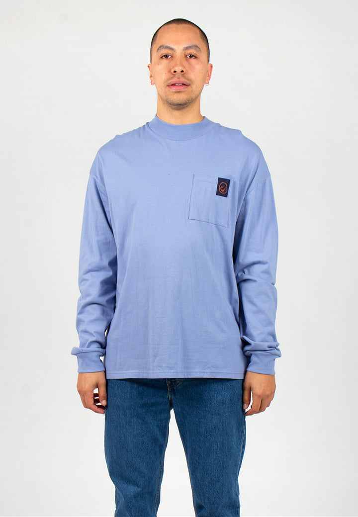 Smokey Blue Long Sleeve Tee