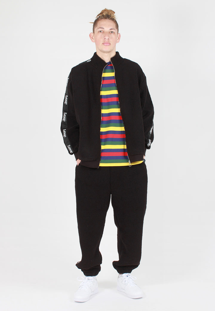 Lazy Oaf Lazy Polar Fleece Zip Up Sweater - black — Good as Gold