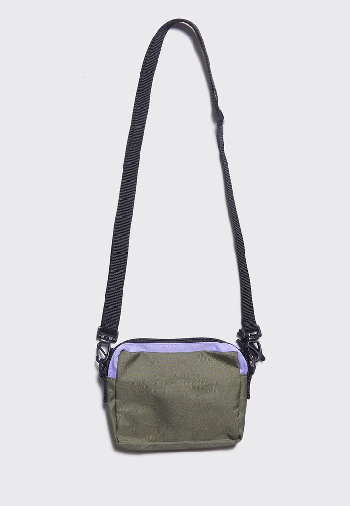 Lazy Mint Zip Flap Bag - green