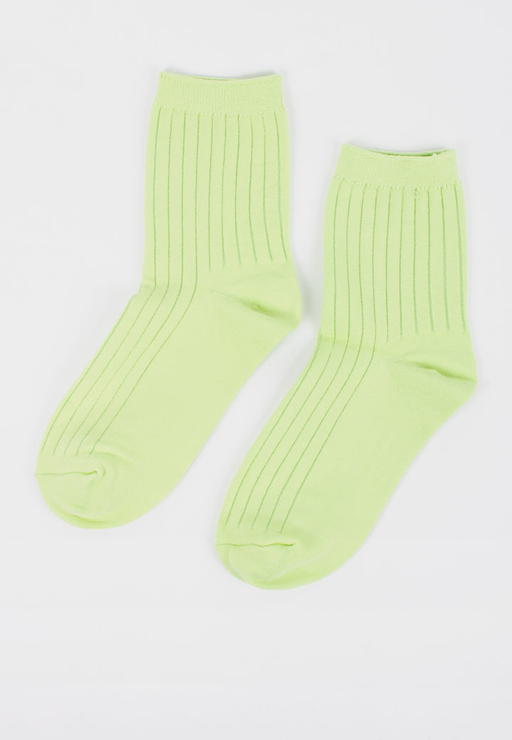 Her Socks Solid - Lime