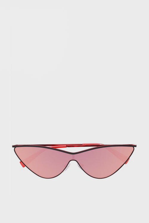 X Adam Selman The Fugitive Sunglasses - black/red