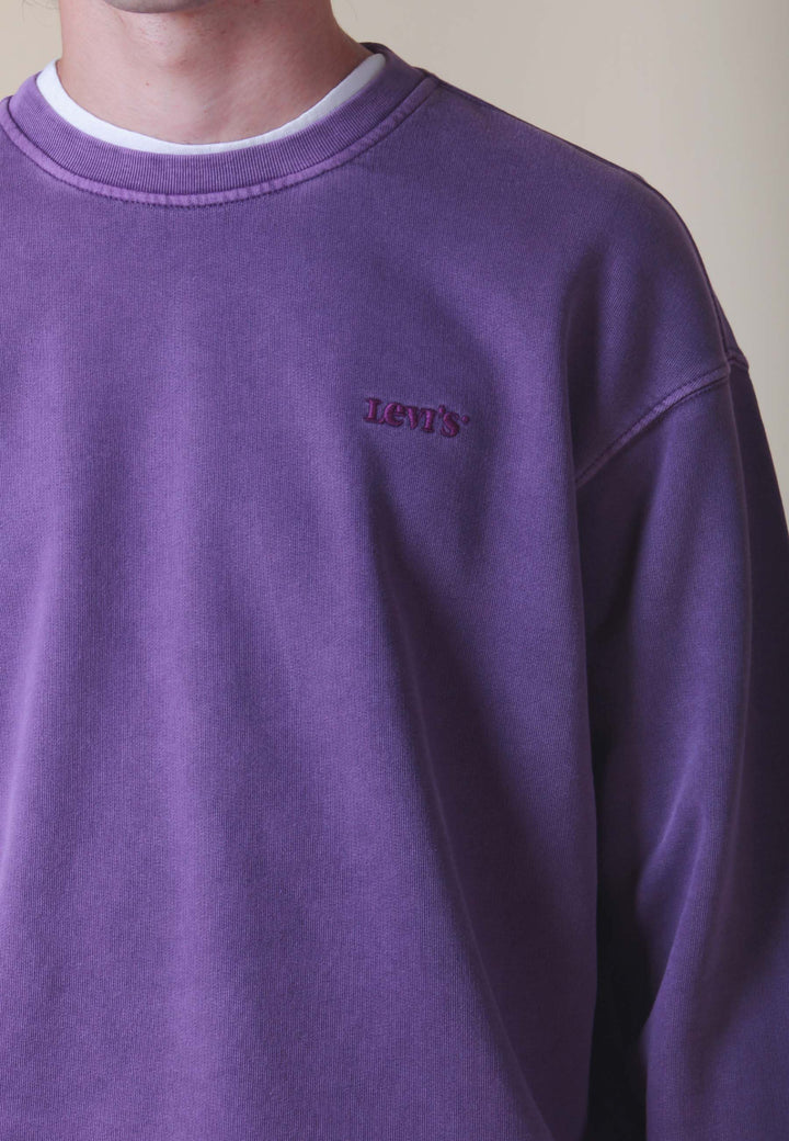 Relaxed Crew Garment Dye - loganberry
