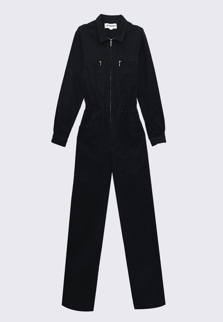 Danny Longsleeve Boilersuit - black