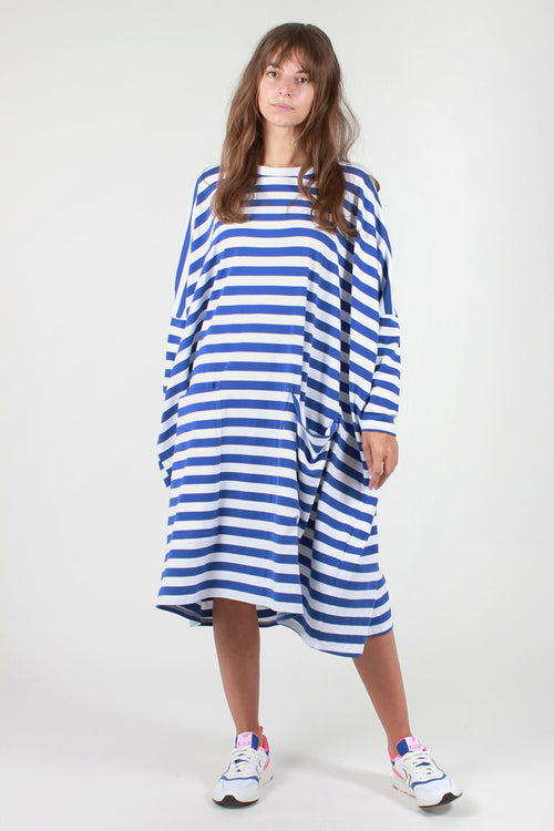 Milo Dress - blue stripe