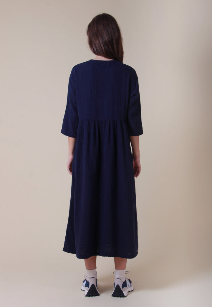 Sammy Dress - navy voile
