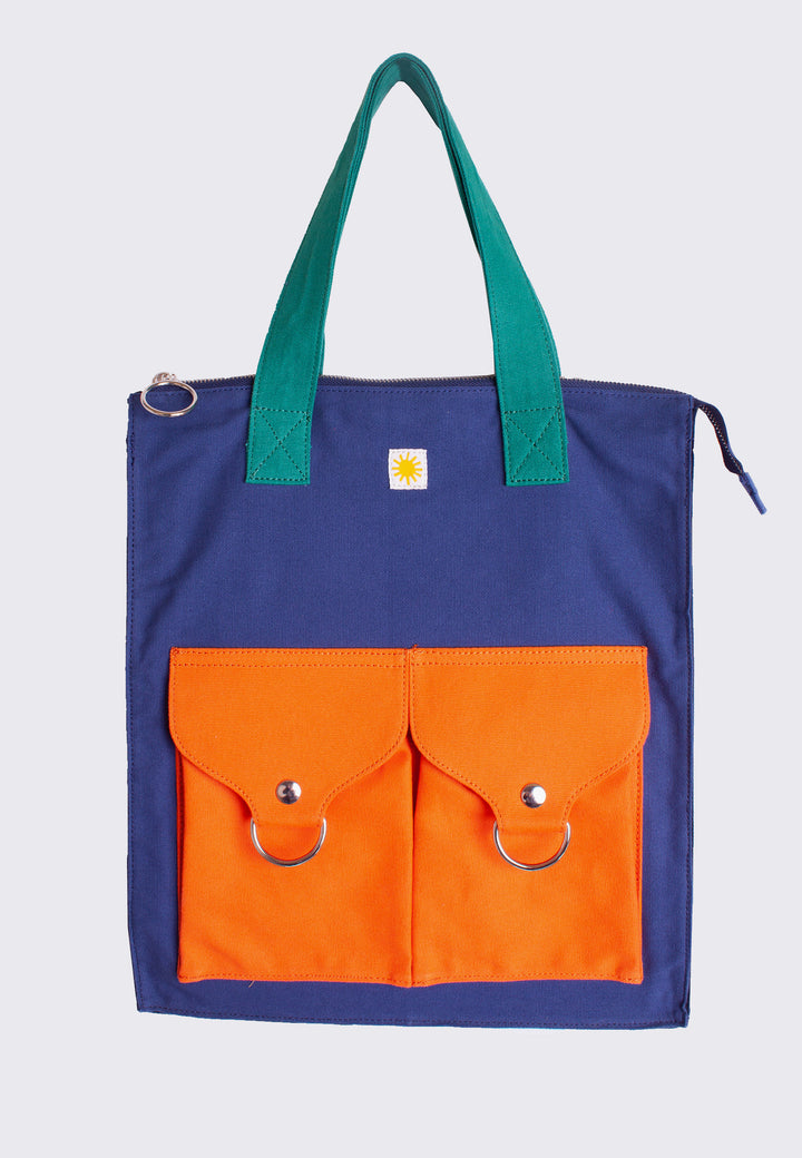 Super Shopper - navy/orange/green