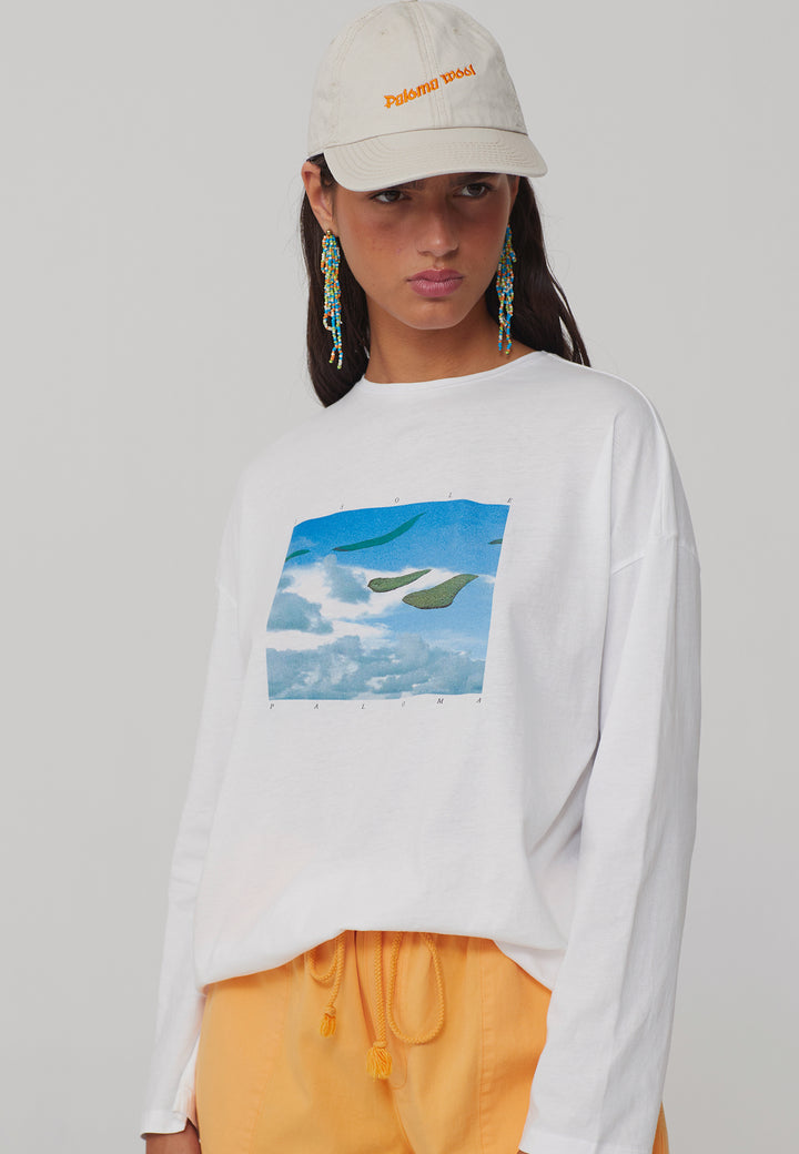 Souvenir Isole Paloma Long Sleeve T-Shirt - off white