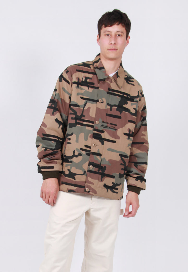 Maharishi Camo Deck Jacket - woodland – Good as Gold