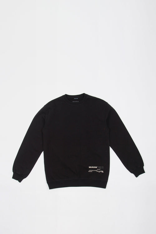 Tron Geisha Crew Sweater - black