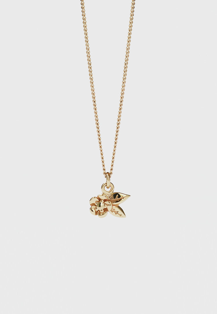 Alba Charm Necklace - gold