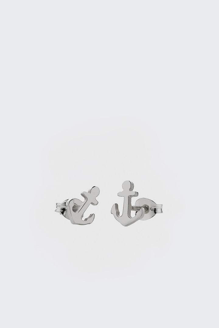 Meadowlark, Anchor Stud Earrings - silver | GOOD AS GOLD | NZ